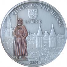 Stříbrná mince Lübeck 2009 Štandard Cook Islands