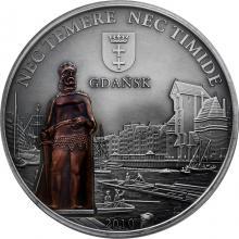 Stříbrná mince Gdaňsk 2010 Štandard Cook Islands