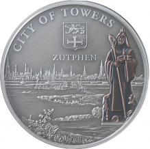 Stříbrná mince Zutphen 2010 Štandard Cook Islands