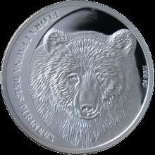 Strieborná minca Medveď hnedý 2010 Proof Andorra