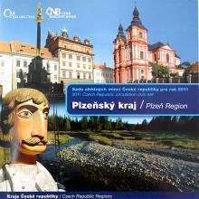 Sada obežných mincí ČR 2011 Plzeňský kraj Štandard