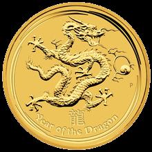 Zlatá investičná minca Year of the Dragon Rok Draka Lunárny 1 Kg 2012