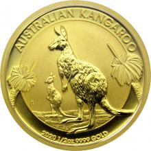 Zlatá investiční mince Kangaroo Klokan 1/2 Oz