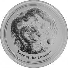 Stříbrná investiční mince Year of the Dragon Rok Draka Lunární 2 Oz 2012