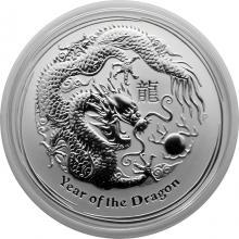 Stříbrná investiční mince Year of the Dragon Rok Draka Lunární 1/2 Oz 2012