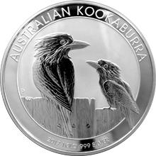 Strieborná investičná minca Kookaburra Rybárik 1 Kg
