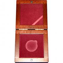 Dřevěná krabička 1 x Au ČR 34 mm
