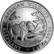 Strieborná investičná minca Slon africký Somálsko 1 Oz