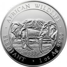 Strieborná investičná minca Slon africký Somálsko 1 Oz 2020