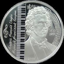 Stříbrná mince Frédéric Chopin 2008 Proof Mongolsko