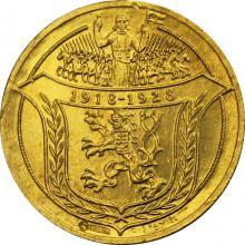 Zlatá medaila 4-dukát Som razený z českého kovu 1928