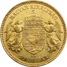 Zlatá mince Desetikoruna Františka Josefa I. Uherská ražba 1893
