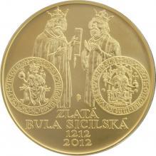 Zlatá minca 10000 Kč Zlatá bula sicilská 1oz 2012 Štandard