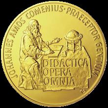Zlatá investiční mince 250 NZD Jan Amos Komenský Standard