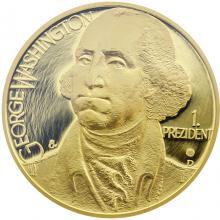 Zlatá uncová medaile George Washington 2012 Proof