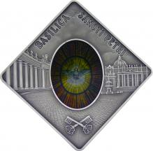Stříbrná mince Bazilika svatého Petra 2011 Štandard Palau
