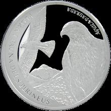 Strieborná minca Orol skalný 2011 Proof Andorra