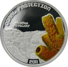 Stříbrna mince Aplysina Fistularis 2011 Proof Tuvalu