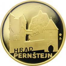 Zlatá čtvrtuncová medaile Hrad Pernštejn 2012 Proof