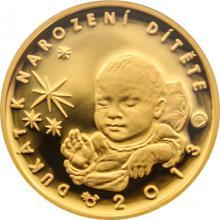Zlatý dukát k narození dítěte 2013 s věnováním Proof