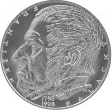 Stříbrná mince 200 Kč František Palacký 200. výročí narození 1998 Standard