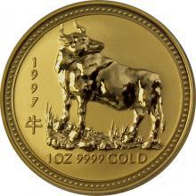 Zlatá investičná minca Year of the Ox Rok Byvola Lunárny 1 Oz 1997