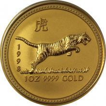 Zlatá investičná minca Year of the Tiger Rok Tigra Lunárny 1 Oz 1998