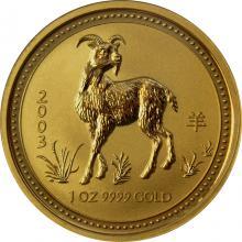 Zlatá investičná minca Year of the Goat Rok Kozy Lunárny 1 Oz 2003