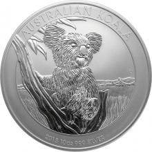 Stříbrná investiční mince Koala 10 Oz 2015