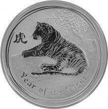 Stříbrná investiční mince Year of the Tiger Rok Tygra Lunární 1 Oz 2010