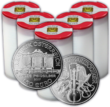 Stříbrná investiční mince Wiener Philharmoniker 1 Oz - Investiční Paket 100 Kusů