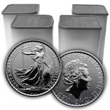 Stříbrná investiční mince Britannia 1 Oz (Odber nad 100 Ks)
