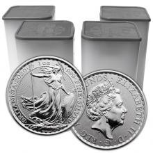 Stříbrná investiční mince Britannia 1 Oz (Odběr nad 100 Ks)