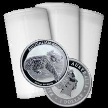 Stříbrná investiční mince Koala 1 Oz - Investiční Paket 100 Kusů