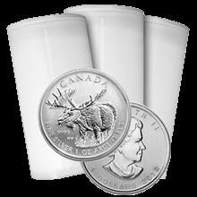 Stříbrná investiční mince Los Kanada Wildlife 1 Oz 2012 - Investiční Paket 100 Kusů