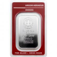 50g Argor Heraeus SA Švýcarsko Investiční stříbrný slitek