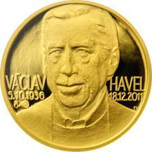 Zlatá půluncová medaile Václav Havel 2012 Číslováno Proof