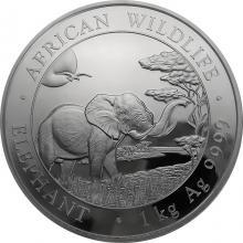 Strieborná investičná minca Slon africký Somálsko 1 Kg