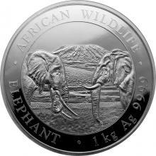 Stříbrná investiční mince Slon africký Somálsko 1 Kg