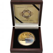 Zlatá mince 5 Oz Titanic 100. výročí 2012 Proof