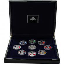 Limitovaná kolekce stříbrných mincí Králové Fotbalu 2008 - 2011 Proof Euro 2012