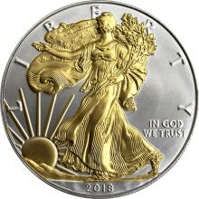 Stříbrná mince pozlacený American Eagle 1 Oz Standard