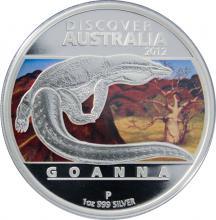 Stříbrná mince Discover Australia Varan 1 Oz 2012 Proof