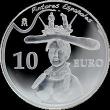 Strieborná minca Salvador Dalí Bust of a woman 2009 Proof