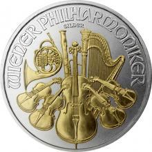 Stříbrná mince pozlacený Wiener Philharmoniker 1 Oz Standard