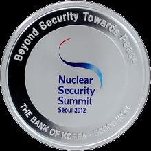 Strieborná minca Summit o jadrovej bezpečnosti 2012 Proof