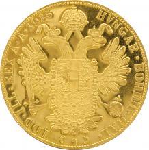 Zlatá investiční mince 4-Dukát Františka Josefa I. 1915 (novoražba)
