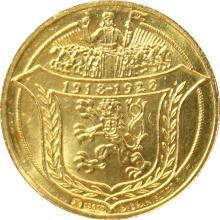 Zlatá medaila 2-dukát Som razený z českého kovu 1928