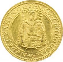 Zlatá minca Svätý Václav Jednodukát Československý 1927