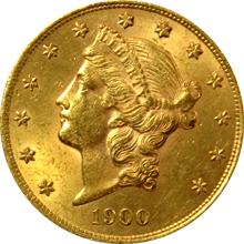 Zlatá mince American Double Eagle Liberty Head 1900
